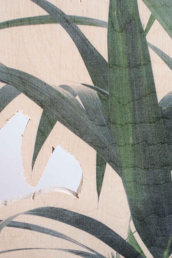 stueplante print krydsfiner træ