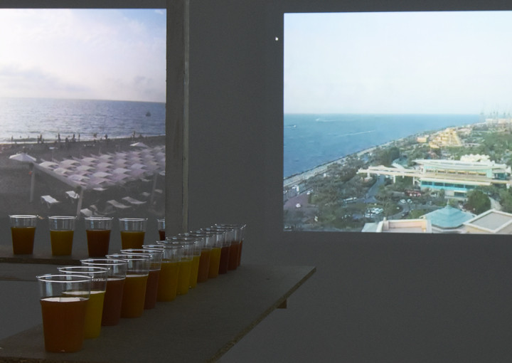 chasing sunsets video installation